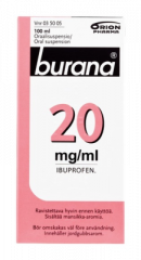 BURANA 20 mg/ml oraalisusp 100 ml