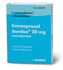 ESOMEPRAZOL SANDOZ 20 mg enterotabl 7 fol